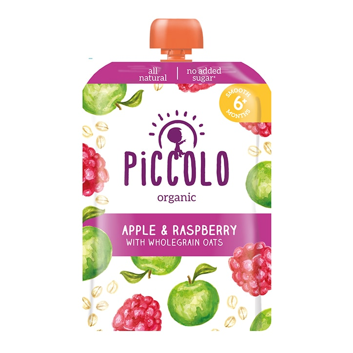Piccolo Organic Raspberry Apple and Soaked Oats 6m+ 100g
