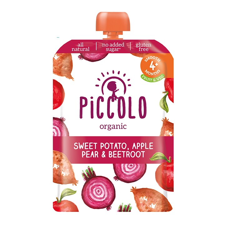 Piccolo Organic Sweet Potato, Beetroot, Apple andPear 6m+ 100g