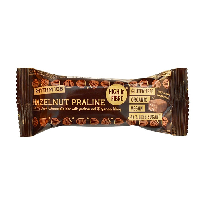 Rhythm 108 Swiss Chocolate Bar Hazelnut Praline 33g