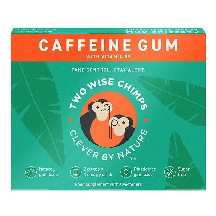 Two Wise Chimps Natural Caffeine Chewing Gum 12 x 9pc