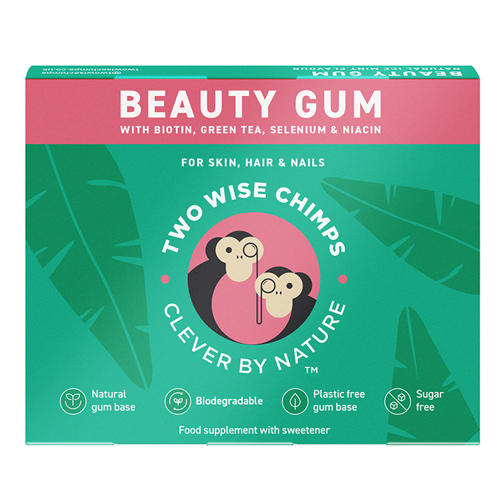 Two Wise Chimps Natural Beauty Chewing Gum 9pc