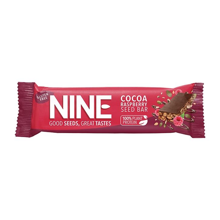 Nine Cocoa & Raspberry Bar 40g