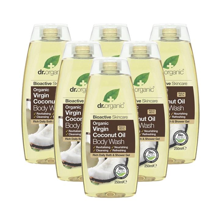 Dr Organic Organic Virgin Coconut Oil Body Wash Bundle 6 x 250ml