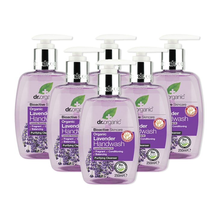 Dr Organic Lavender Handwash Bundle 6 x 250ml