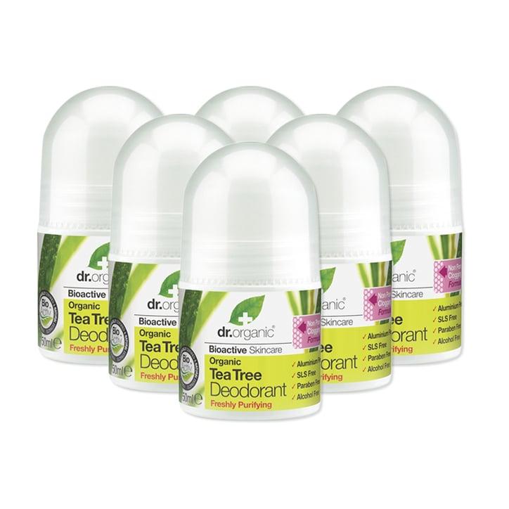 Dr Organic Tea Tree Deodorant Bundle 6 x 50ml