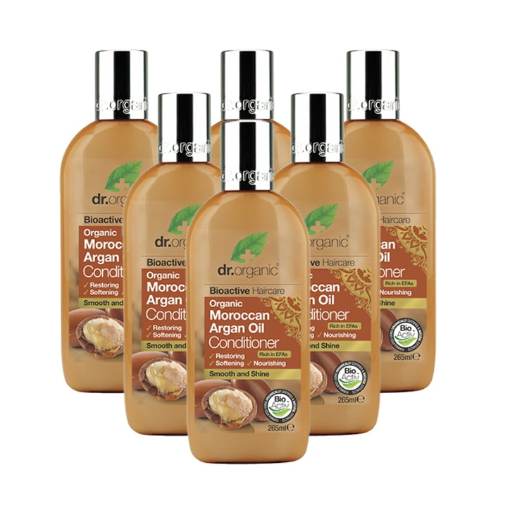 Dr Organic Moroccan Argan Oil Conditioner Bundle 6 x 265ml