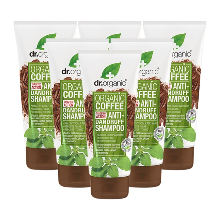 Dr Organic Coffee Anti-Dandruff Shampoo Bundle 6 x 200ml