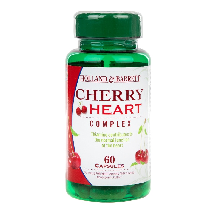 Holland & Barrett Cherry Heart 500mg 60 Capsules