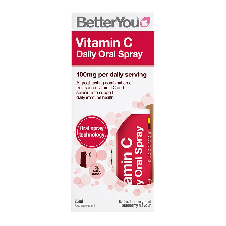 Betteryou Vitamin C Daily Oral Spray Cherry & Blueberry Flavour 25ml