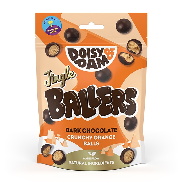 Doisy & Dam Vegan Dark Chocolate & Orange Jingle Ballers 75g