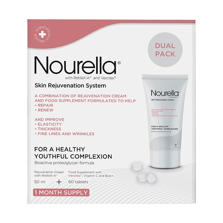 Nourella Active Skin Support System Cream + Tablets Dual Pack