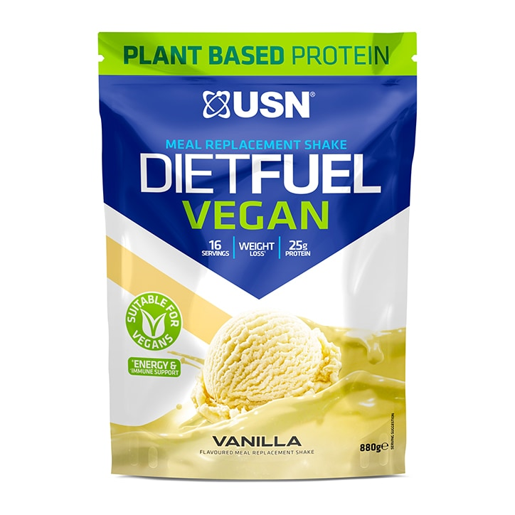 USN Diet Fuel Vegan Meal Replacement Shake Vanilla 880g