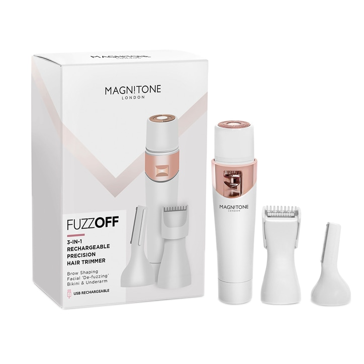 Magnitone FuzzOff 3-in-1 Rechargeable Precision Hair Trimmer