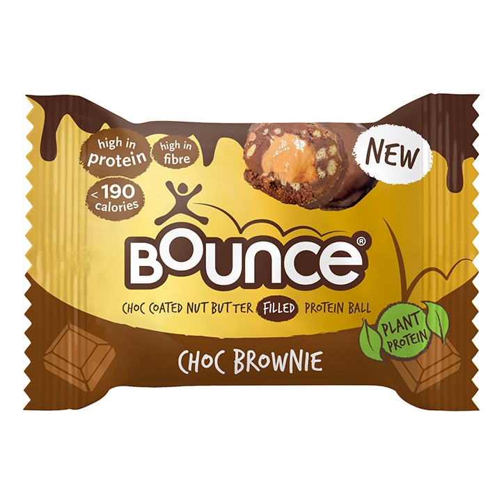 Bounce Dipped Dark Chocolate Brownie Protein Ball 40g