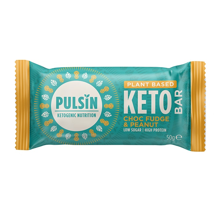 Pulsin Choc Fudge & Peanut Keto Bar 50g