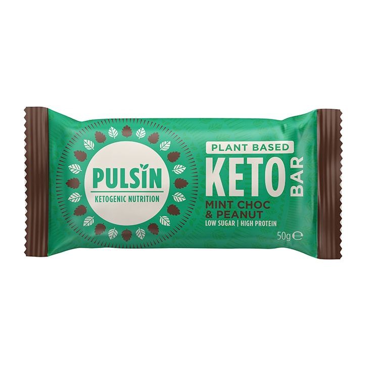 Pulsin Mint Chocolate & Peanut Keto Bar 50g