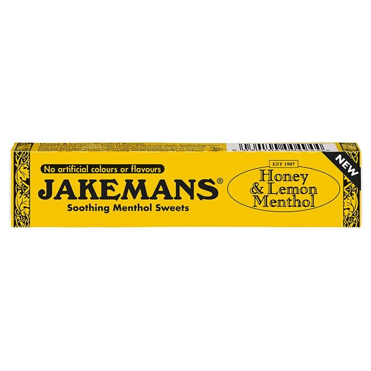 Jakemans Honey & Lemon Soothing Menthol Sweets 41g Stick Pack