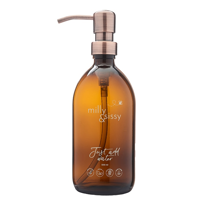 milly&sissy British Made Glass Bottle With Bronzed Pump