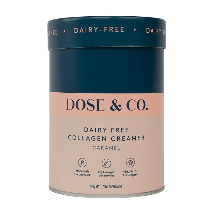 Dose & Co Dairy-Free Collagen Creamer Caramel 340g