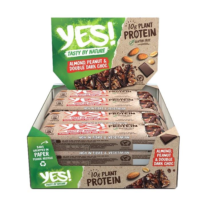 YES! Protein Almond, Peanut & Double Dark Choc 12 x 45g