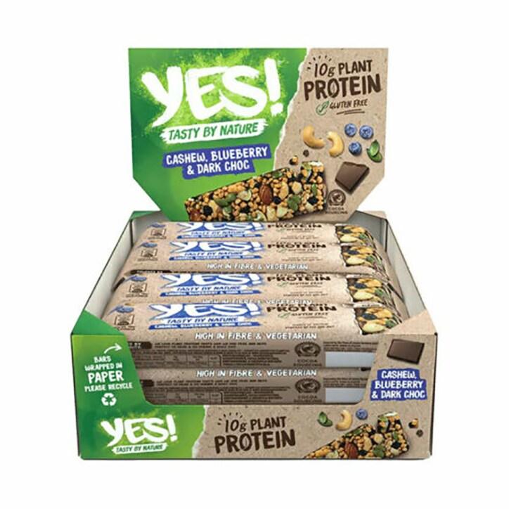 YES! Protein Cashew, Blueberry & Dark Choc 12 x 45g