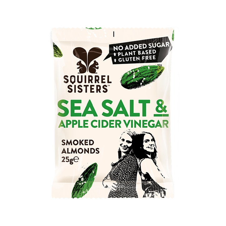 Squirrel Sisters Sea Salt & Apple Cider Vinegar Almonds 25g