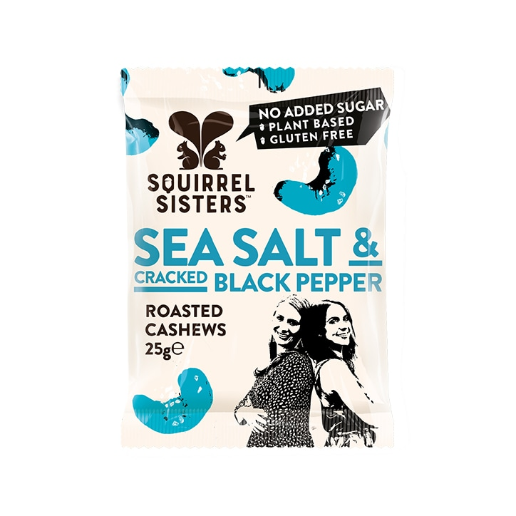 Squirrel Sisters Sea Salt & Black Pepper Cashews 25g