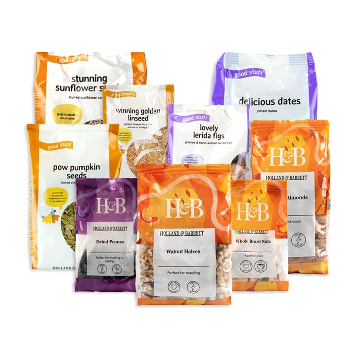 Holland & Barrett Healthy Snacking Fruit, Nuts & Seeds Bundle