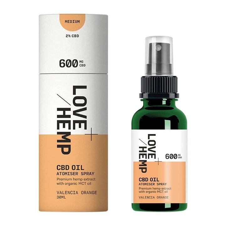 Love hemp 600mg CBD Spray Valencia Orange 30ml