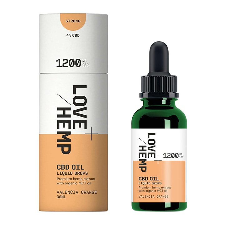 Love Hemp 1200mg CBD Oil Valencia Orange 30ml