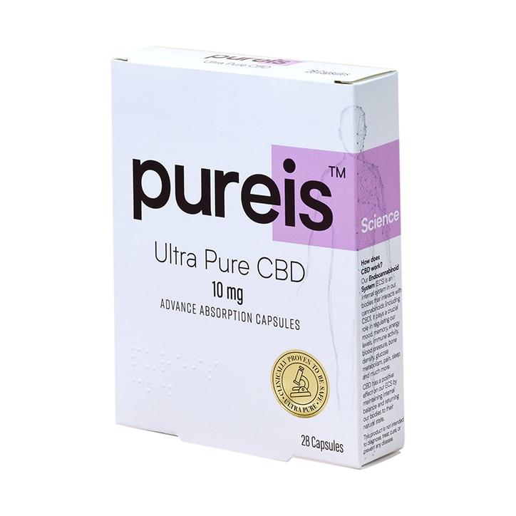Pureis® Ultra Pure CBD Advanced Absorption 10mg 28 Capsules