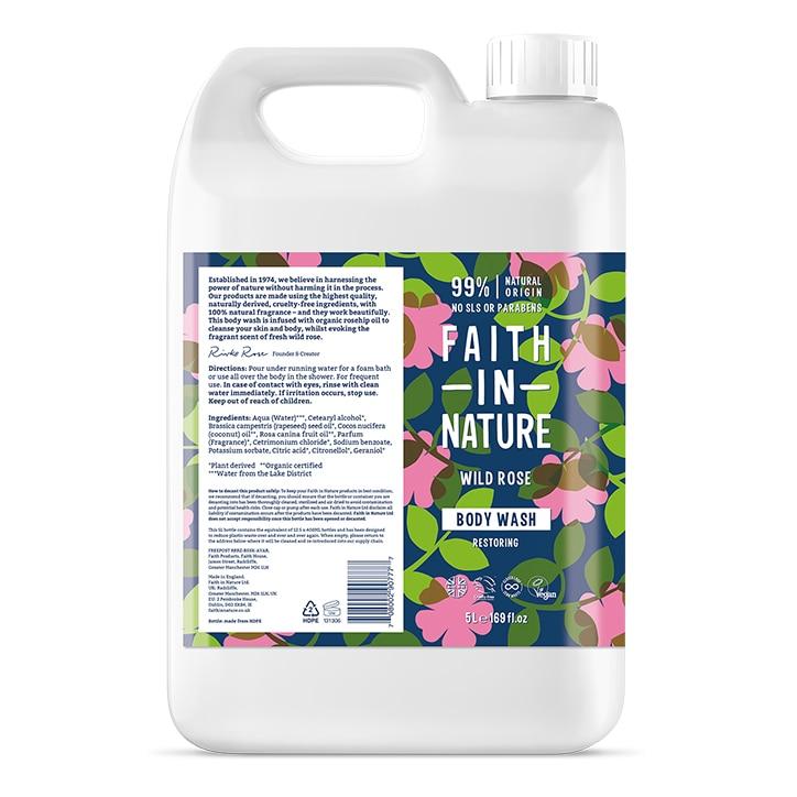 Faith in Nature Wild Rose Body Wash 5L