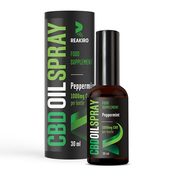 Reakiro CBD Oil Spray Peppermint 1000mg 30ml