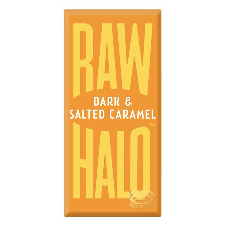 Raw Halo Vegan Dark & Salted Caramel Raw Chocolate 70g