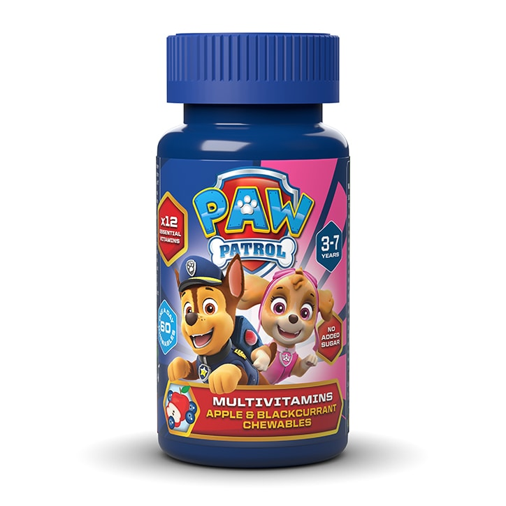 PAW Patrol Nickelodeon Multivitamins Apple & Blackcurrant 60 Chewables