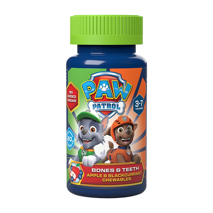 PAW Patrol Nickelodeon Bones & Teeth Apple & Blackcurrant 60 Chewables