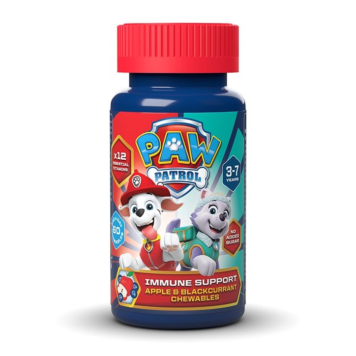 Nickelodeon PAW Patrol Immune Support Apple & Blackcurrant 60 Chewables