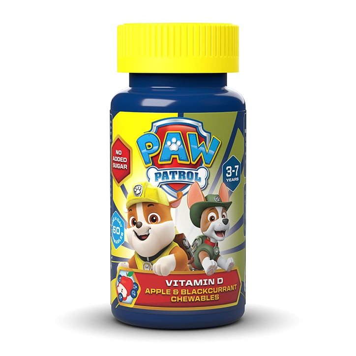 PAW Patrol Nickelodeon Vitamin D Apple & Blackcurrant 60 Chewables