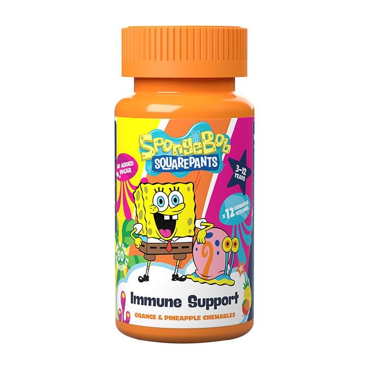 SpongeBob SquarePants Nickelodeon Immune Support Orange & Pineapple 60 Chewables