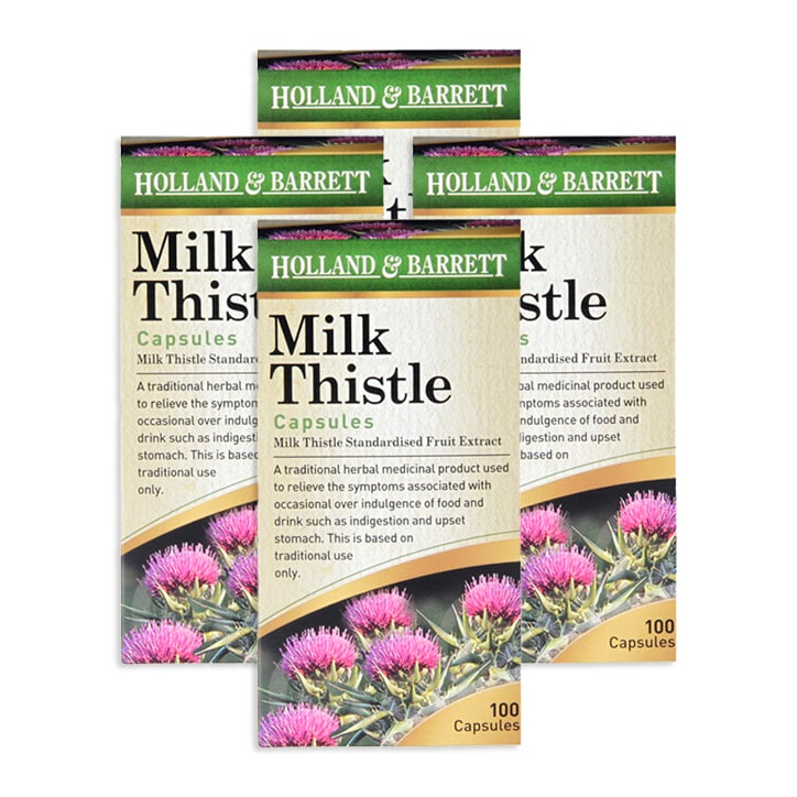 1 Years' Supply of Holland & Barrett Milk Thistle Capsules  Bundle