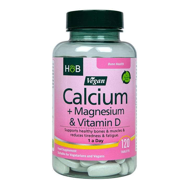 Holland & Barrett Vegan Calcium & Magnesium 120 Tablets