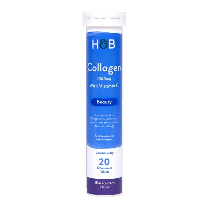 Holland & Barrett Bovine Collagen  Blackcurrant Effervescent 20 Tablets 1000mg