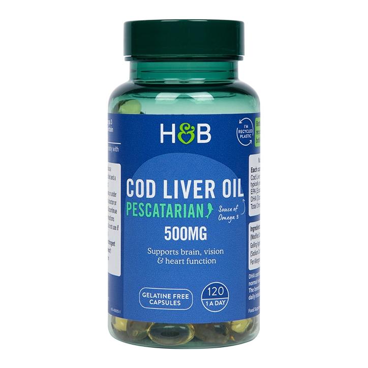 Holland & Barrett Cod Liver Oil 500mg 120 Capsules