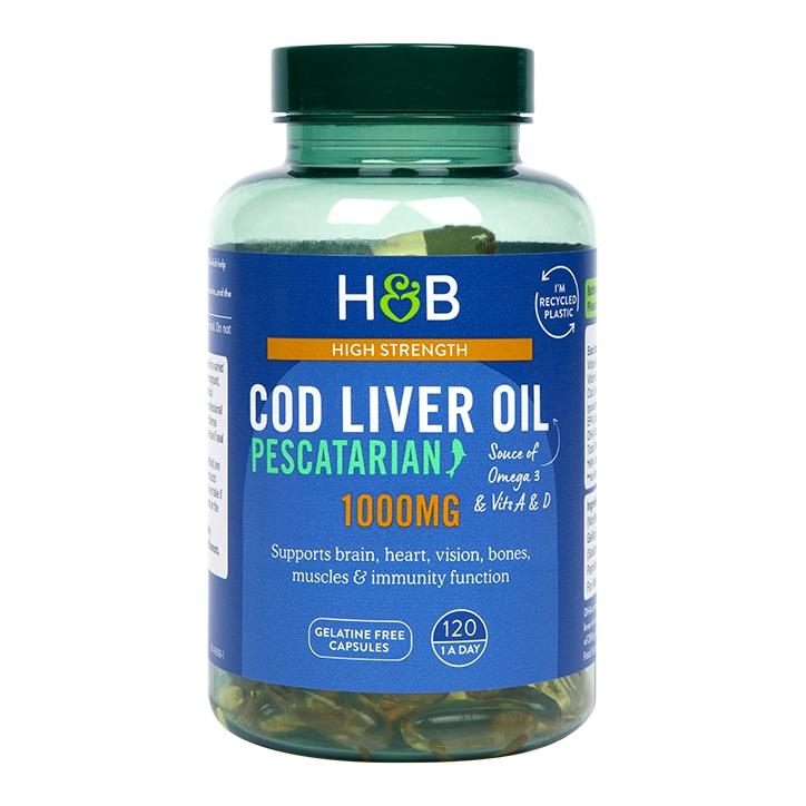 Holland & Barrett Cod Liver Oil 1000mg 120 Capsules