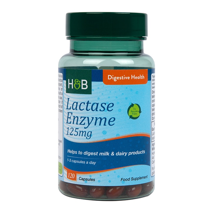 Holland & Barrett Super Lactase Enzyme 120 Capsules 125mg