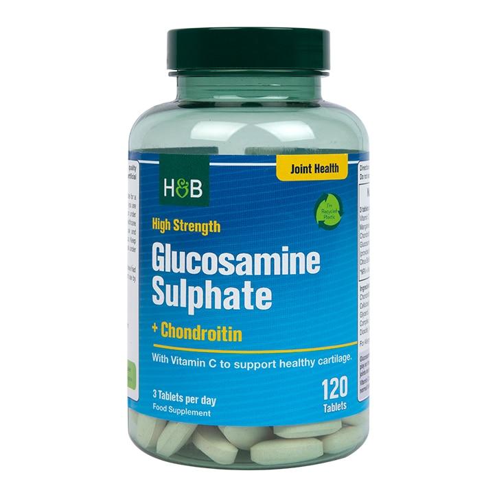 Holland & Barrett High Strength Glucosamine Sulphate & Chondroitin 1100mg 120 Tablets