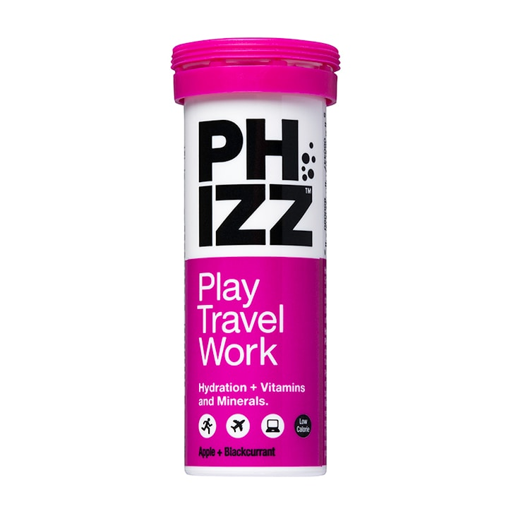 Phizz Apple & Blackcurrant Multivitamin & Hydration Effervescent 10 Tablets