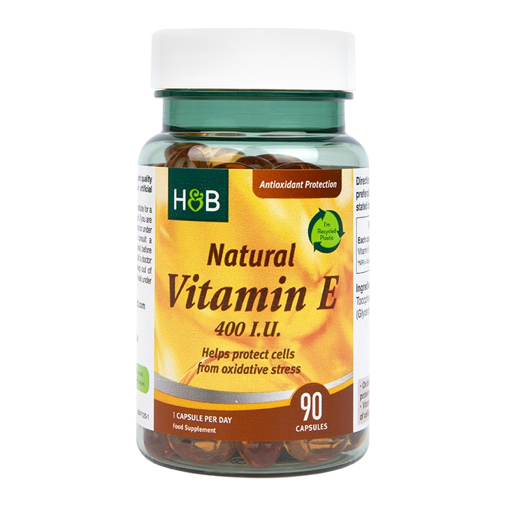 Holland & Barrett Natural Vitamin E 400iu Vegan 90 Capsules