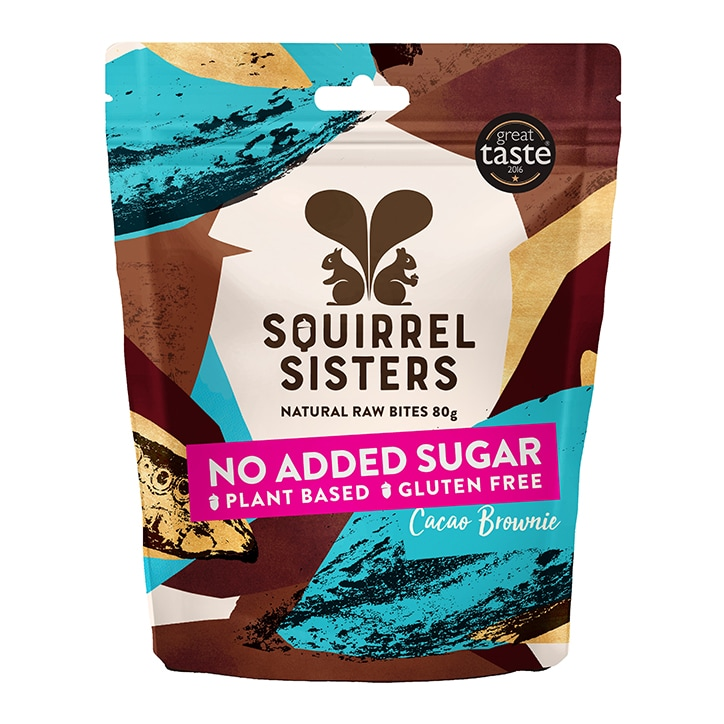 Squirrel Sisters Cacao Brownie Raw Brownie Bites 80g
