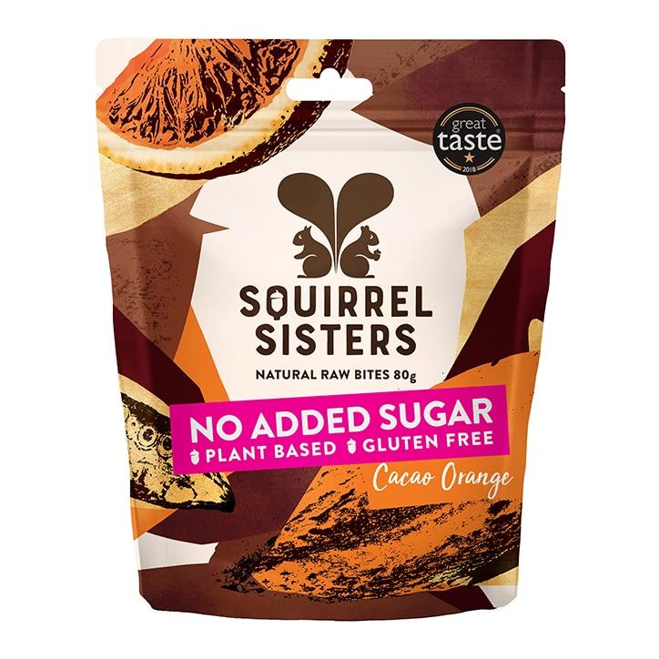 Squirrel Sisters Cacao Orange Raw Brownie Bites 80g